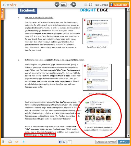 livre facebook et fan box