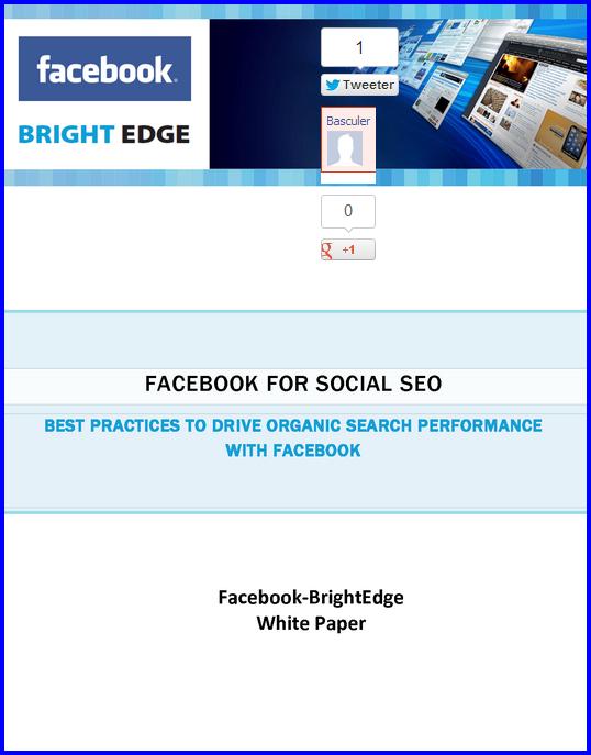 facebook et social SEO